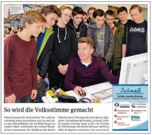 SchmaZ: Ansicht Volksstimme-Artikel über das Gerhart-Hauptmann-Gymnasium Wernigerode