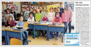 SchmaZ junior: Ansicht Volksstimme-Artikel über die Grundschule am Kirchplatz Veckenstedt