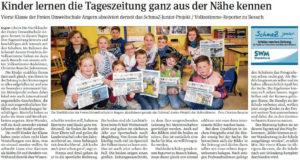 SchmaZ junior: Ansicht Volksstimme-Artikel über die Freie-Umweltschule-Angern