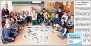 SchmaZ junior: Ansicht Volksstimme-Artikel über die Diesterweg-Grundschule Derenburg