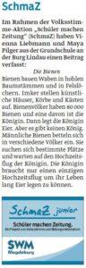 """SchmaZ junior: Ansicht Schüler-Artikel von der Grundschule """"An der Burg"""" Lindau"""