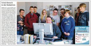 SchmaZ: Ansicht Volksstimme-Artikel über die Schule am Heidetor Zerbst