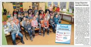 """SchmaZ junior: Ansicht Volksstimme-Artikel über die Grundschule """"Juri Gagarin"""" Welsleben"""