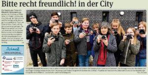 SchmaZ: Ansicht Volksstimme-Artikel über den Workshop zur Foto-Challenge