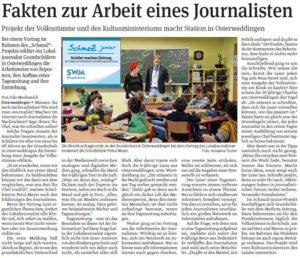 SchmaZ junior: Ansicht Volksstimme-Artikel über die Grundschule Osterweddingen