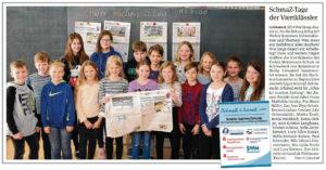 SchmaZ junior: Ansicht Volksstimme-Artikel über die Freie Montessori Grundschule Schönebeck