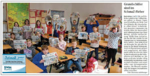 """SchmaZ junior: Ansicht Volksstimme-Artikel über die Grundschule """"Albert Klaus"""" Badersleben"""