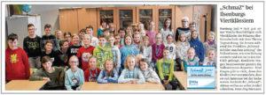 SchmaZ junior: Ansicht Volksstimme-Artikel über die Prinzess-Ilse-Grundschule.