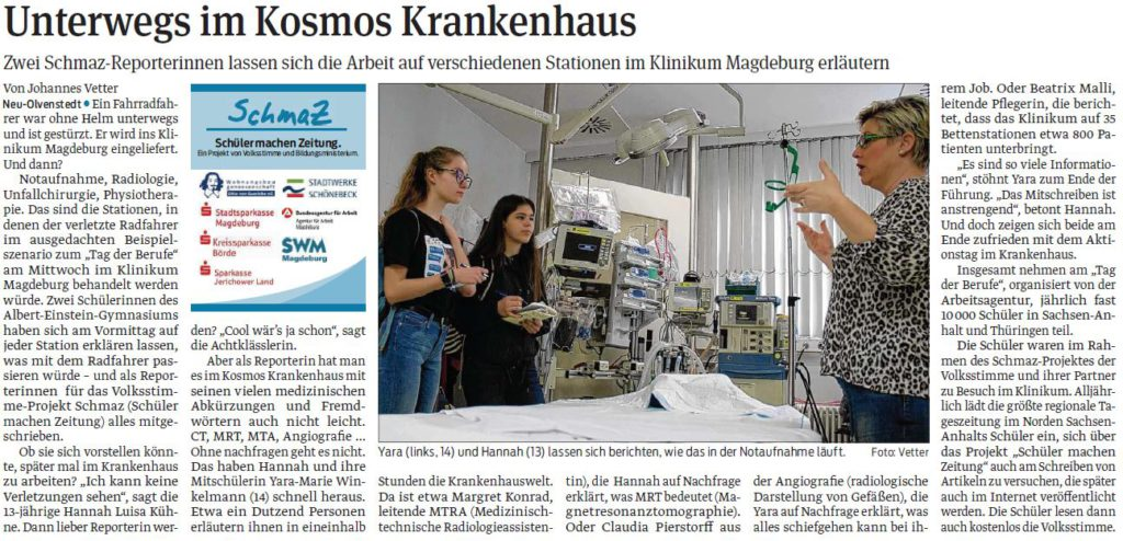 Im Klinikum Olvenstedt