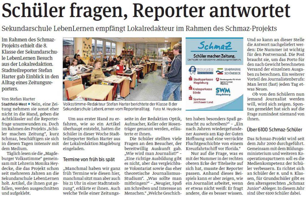 Schüler fragen, Reporter antwortet