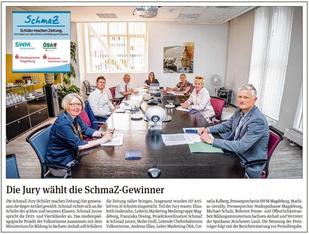 """Die """"SchmaZ"""" Jury-Sitzung fand am 24.06.2020 statt. Ein Beitrag in der Volksstimme vom 25.06.2020."""